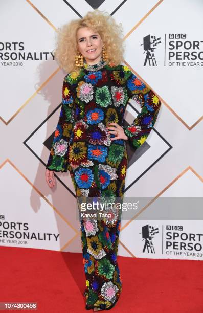 Paloma Faith attends the 2018 BBC Sports Personality Of The Year at The Vox Conference Centre on December 15 2018 in Birmingham England