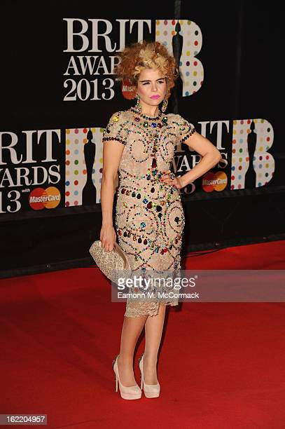 Paloma Faith attends the Brit Awards 2013 at the 02 Arena on February 20 2013 in London England