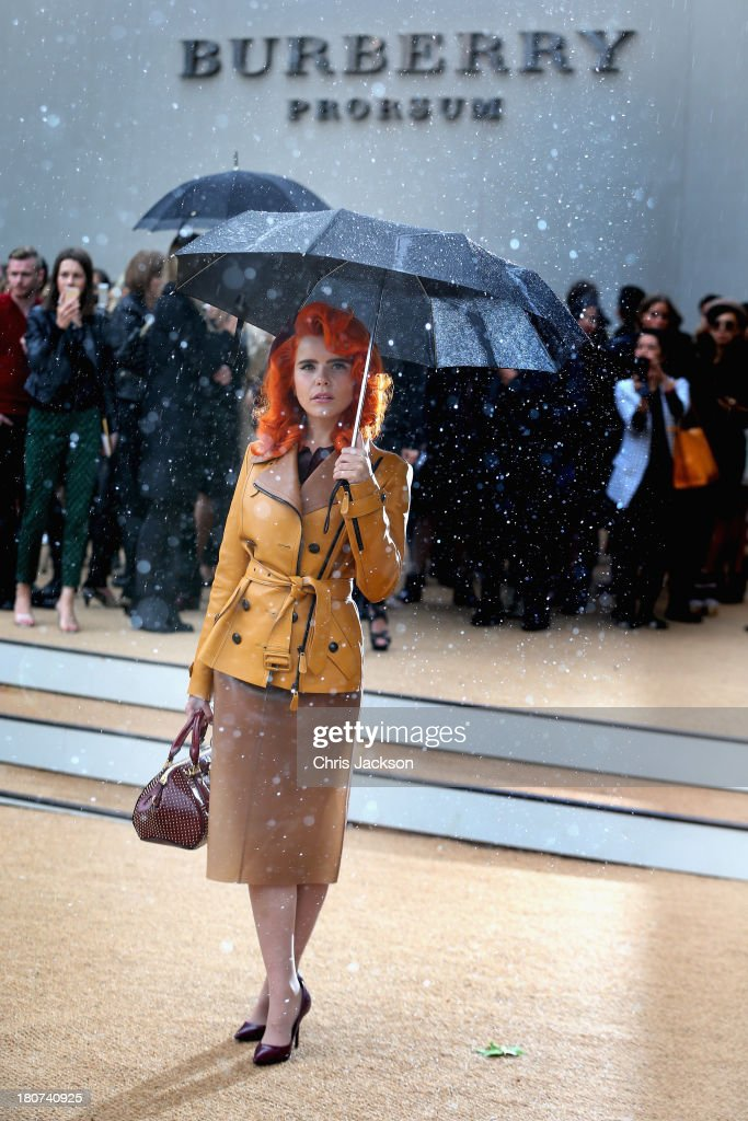 Paloma Faith attends the Burberry Prorsum show at London Fashion Week SS14 at on September 16, 2013 in London, England.