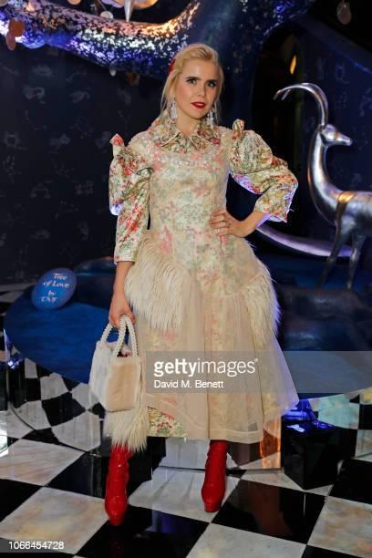 Paloma Faith attends the Claridge's Zodiac Party hosted by Diane von Furstenberg Edward Enninful to celebrate the Claridge's Christmas Tree 2018 The...