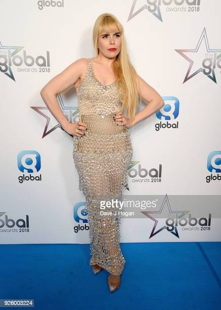Paloma Faith attends The Global Awards a brand new awards show hosted by Global the Media Entertainment Group at Eventim Apollo Hammersmith on March...