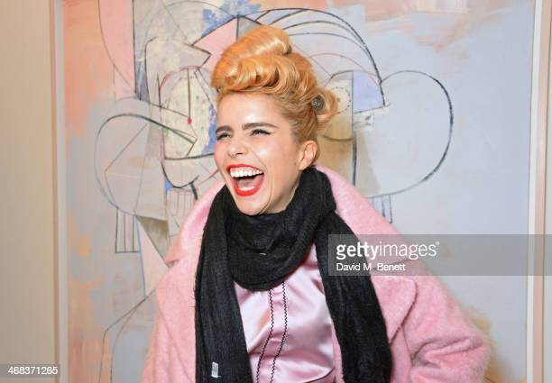 Paloma Faith attends the opening reception at Simon Lee Gallery for an exhibition of new paintings by renowned American artist George Condo titled...