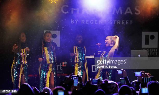 Paloma Faith attends the Regent Street Christmas Lights switch on event with Heart FM on November 16 2017 in London England