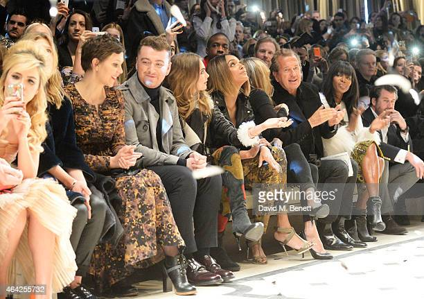 Paloma Faith, Clemence Posey, Maggie Gyllenhaal, Sam Smith, Cara Delevingne, Jourdan Dunn, Kate Moss, Mario Testino and Naomi Campbell attend the...