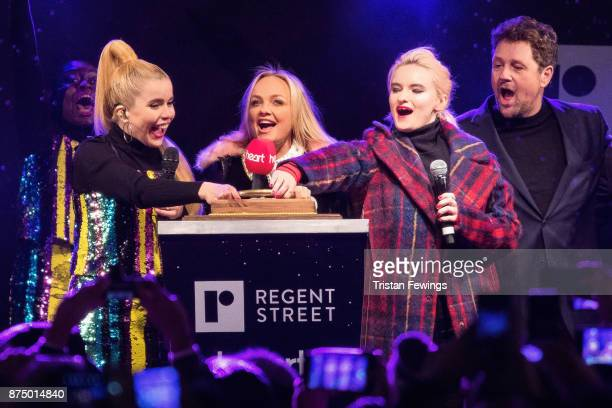 Paloma Faith Emma Bunton Grace Chatto of Clean Bandit and Michael Ball switch on the Regent Street Christmas lights in Regent Street on November 16...