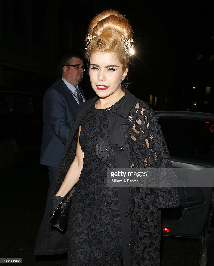 Paloma Faith is pictured arriving at Grey Goose BAFTA event during London Fashion Week held at Little House on February 14, 2014 in London, England.