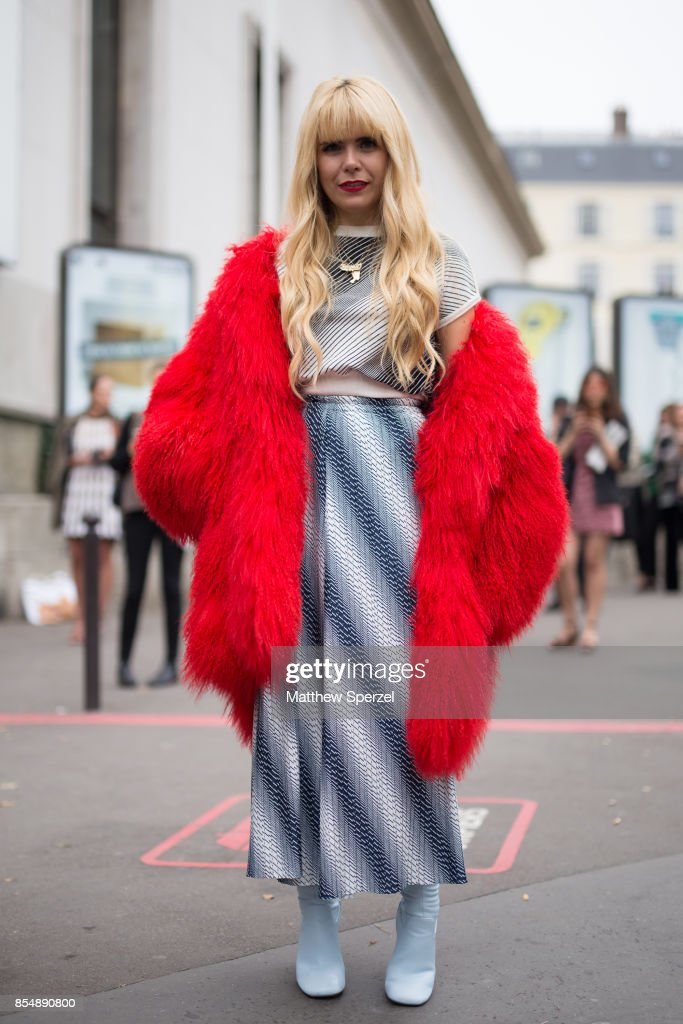 Paloma Faith is seen attending AALTO during Paris Fashion Week wearing AALTO, vintage on September 27, 2017 in Paris, France.