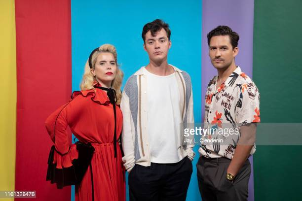 Paloma Faith Jack Bannon and Ben Aldridge of 'Pennyworth' are photographed for Los Angeles Times at ComicCon International on July 19 2019 in San...
