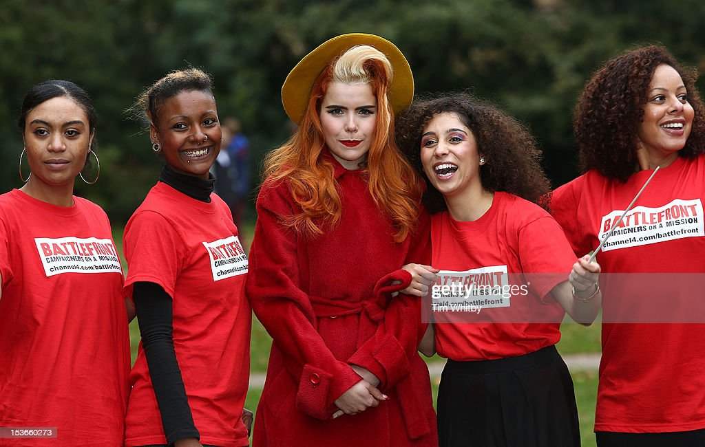 Paloma Faith Joins Choir Of The Unemployed At The Houses Of Parliament : News Photo