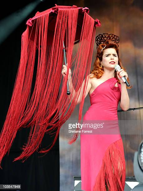 Paloma Faith performs at day two of V Festival at Weston Park on August 22 2010 in Stafford England