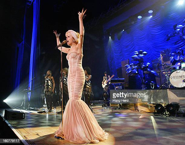 Paloma Faith performs at Portsmouth Guildhall on February 5 2013 in Portsmouth England