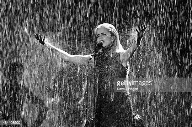 Paloma Faith performs at the BRIT Awards 2015 at The O2 Arena on February 25 2015 in London England