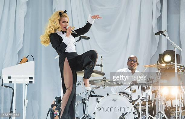 Paloma Faith performs at the Glastonbury Festival at Worthy Farm Pilton on June 27 2015 in Glastonbury England