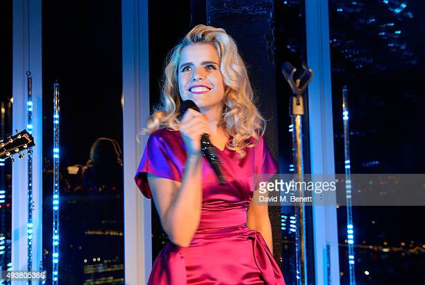 Paloma Faith performs during the opening of new landmark 41storey development South Bank Tower with an exclusive event in the penthouse complete with...