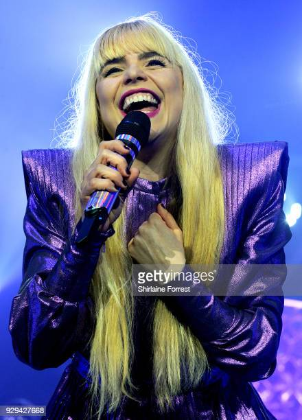 Paloma Faith performs live on stage at Manchester Arena on March 8 2018 in Manchester England