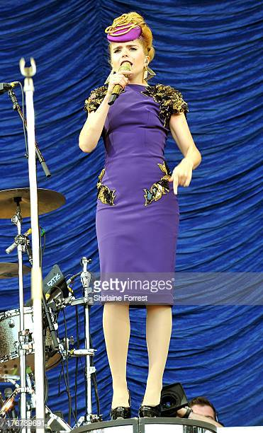 Paloma Faith performs on day 2 of the V Festival at Weston Park on August 18 2013 in Stafford England