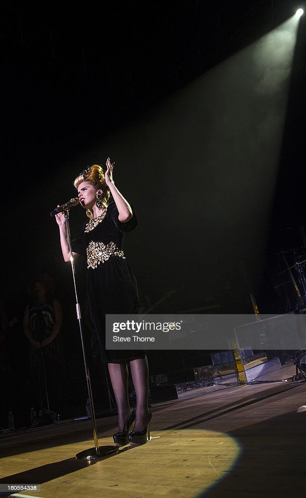 Paloma Faith performs on stage at the Civic Hall on February 2, 2013 in Wolverhampton, England.