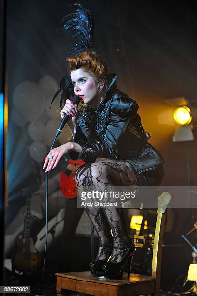 Paloma Faith performs on stage at the Institute Of Contemporary Arts on June 24, 2009 in London, England.