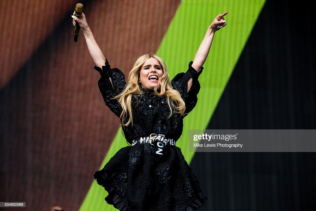 Paloma Faith performs with Sigma at Powderham Castle on May 28, 2016 in Exeter, England.