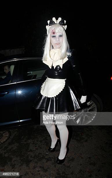 Paloma Faith pictured arriving at Jonathan Ross's Halloween Party on October 31 2015 in London England