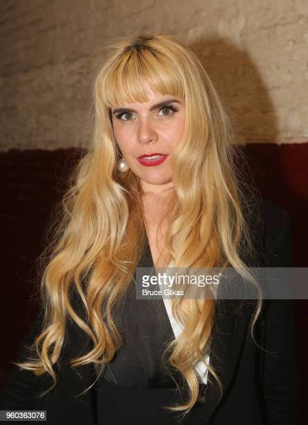 Paloma Faith poses backstage at the New York debut of the hit show 'Letters Live' at Town Hall on May 19 2018 in New York City