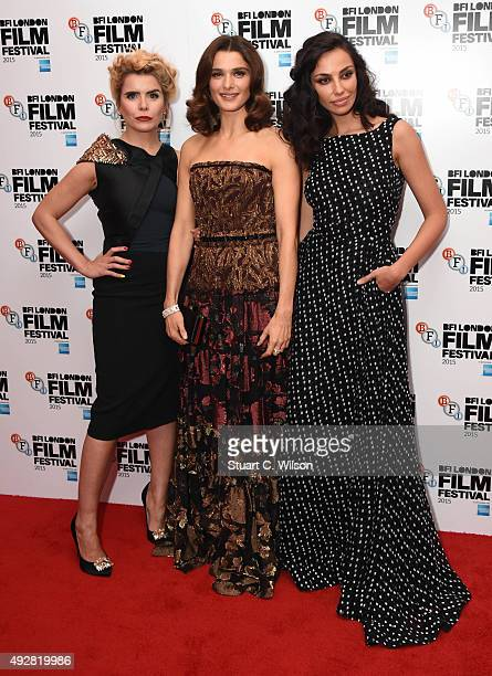 Paloma Faith Rachel Weisz and Madalina Diana Ghenea attend the 'Youth' Red Carpet arrivals during the BFI London Film Festival at Vue Leicester...