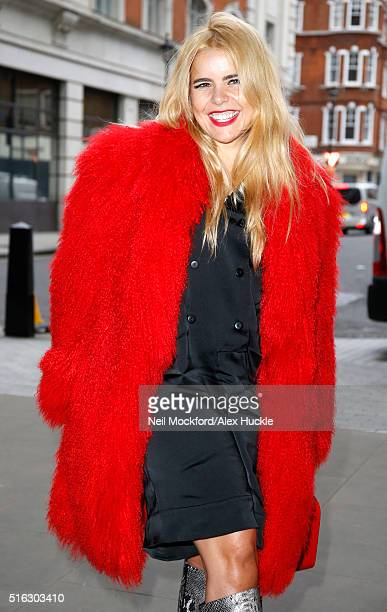 Paloma Faith seen arriving at the BBC Radio 1 Studios on March 18 2016 in London England