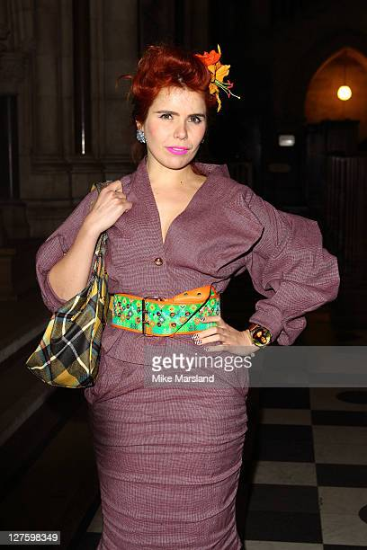 Paloma Faith seen in the front row at the Vivienne Westwood show at London Fashion Week Autumn/Winter 2011 on February 20 2011 in London England