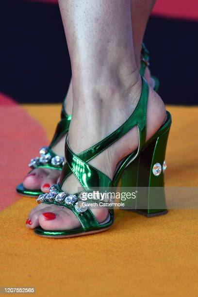 Paloma Faith, shoe detail attends The BRIT Awards 2020 at The O2 Arena on February 18, 2020 in London, England.
