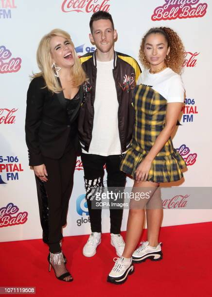 Paloma Faith Sigala and Ella Eyre at Capital's Jingle Bell Ball with CocaCola during day two at The O2 Peninsula Square