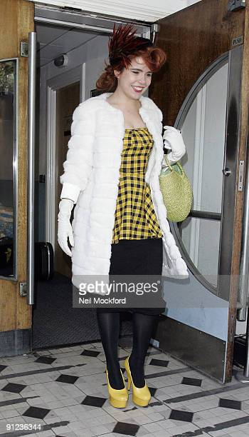 Paloma Faith sighted leaving BBC Radio One on September 29 2009 in London England