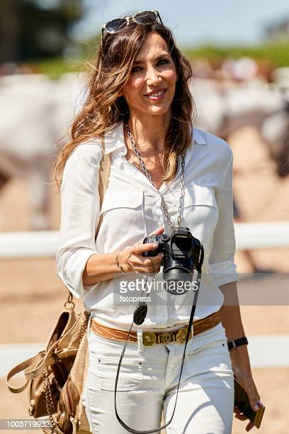 Paloma Lago attends during CSI Casas Novas Horse Jumping Competition on July 22 2018 in A Coruna Spain