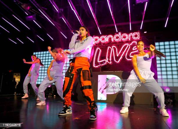 Paloma Mami performs onstage during Pandora Live El Pulso at Academy Nightclub on December 04 2019 in Hollywood California