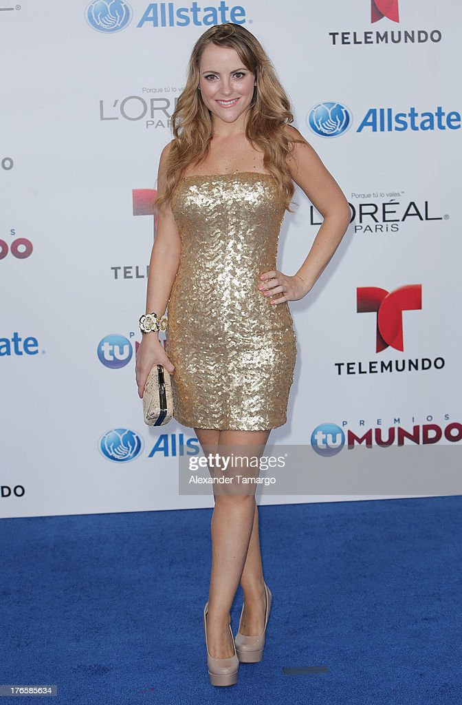 Paloma Marquez attends Telemundo's Premios Tu Mundo Awards at American Airlines Arena on August 15, 2013 in Miami, Florida.