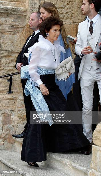 Paloma O'Shea attends the wedding of Lady Charlotte and Alejandro Santo Domingo on May 28 2016 in Granada Spain
