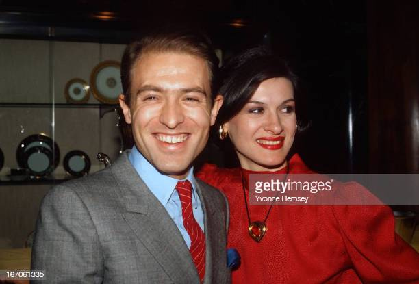 Paloma Picasso and husband Rafael LopezCambil also known as Rafael LopezSanchez are photographed December 1 1980 at Tiffany's in New York City...