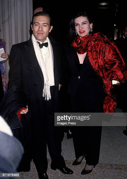 Paloma Picasso and husband Rafael LopezSanchez attend the Annual Costume Institute Exhibition Gala 'From Queen to Empress Victorian Dress 18371888'...