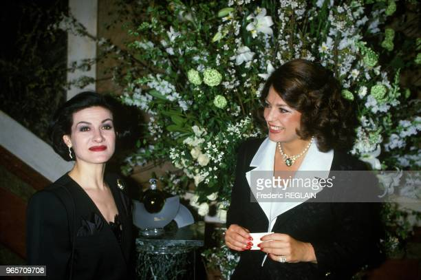 Paloma Picasso And Ira Of Furstenberg At Party Paris April 22 1985
