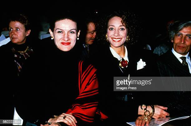 Paloma Picasso and Marisa Berenson circa 1988 in Paris, France.