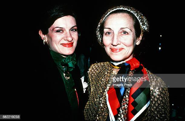 Paloma Picasso and mother Francoise Gilot circa 1980 in New York City
