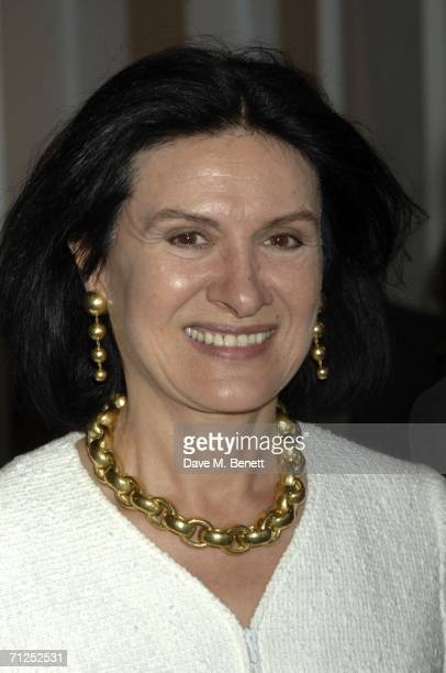 Paloma Picasso attends the Damien Hirst 'A Thousand Years and Triptychs' private view at the Gagosian Gallery on June 20 2006 in London England
