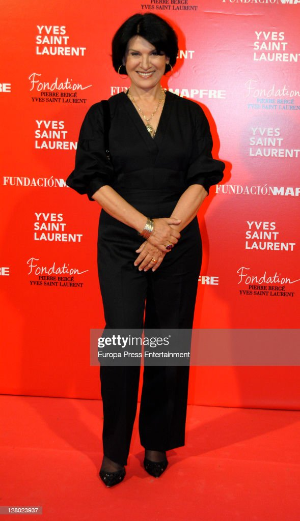 Paloma Picasso attends the opening of 'Yves Saint Laurent' exhibition on October 4, 2011 in Madrid, Spain.