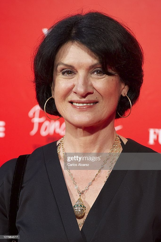 Pierre Berge and Paloma Picasso Attend 'Yves Saint Laurent' Exhibition Opening in Madrid : News Photo