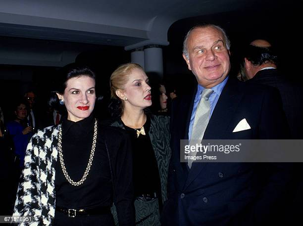 Paloma Picasso Carolina Herrera and Bill Blass attend the Celebrity Fashion Show Benefiting AIDS Patients of St Vincent Hospital at Barney's circa...