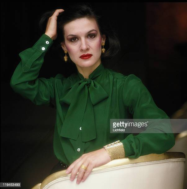 Paloma Picasso, Fashion and jewellery designer , Paris, France , 6th January 1981.