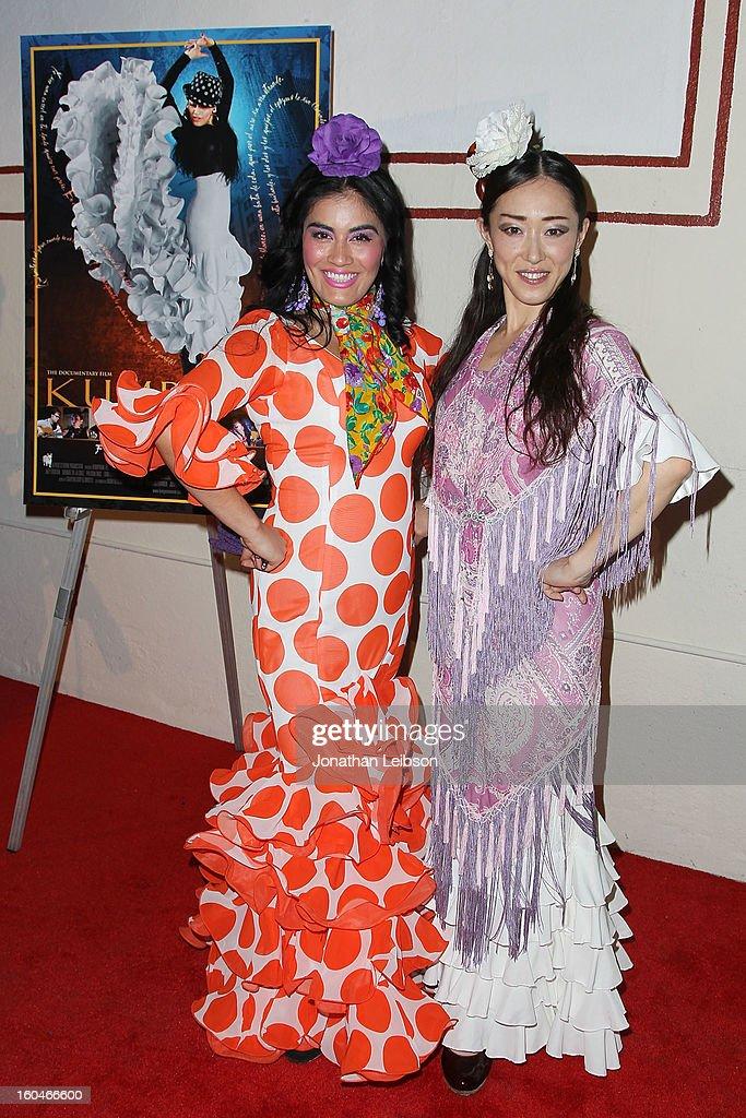 Paloma Rios and Mizuho Sato attend the 'Kumpania: Flamenco Los Angeles' - Los Angeles Premiere - Arrivals at El Cid on January 31, 2013 in Los Angeles, California.