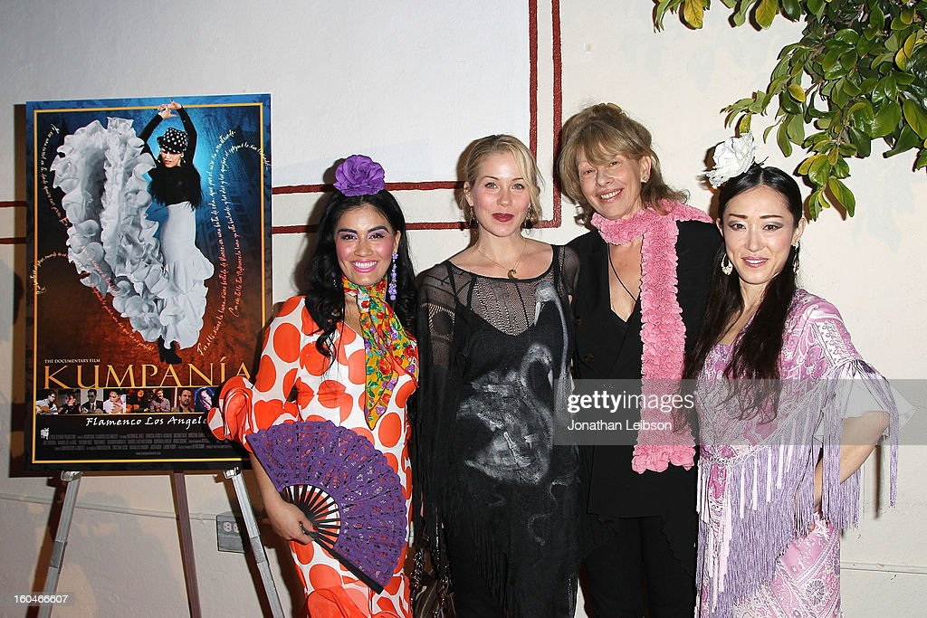 Paloma Rios, Christina Applegate, Katina Dunn and Mizuho Sato attend the 'Kumpania: Flamenco Los Angeles' - Los Angeles Premiere - Arrivals at El Cid on January 31, 2013 in Los Angeles, California.
