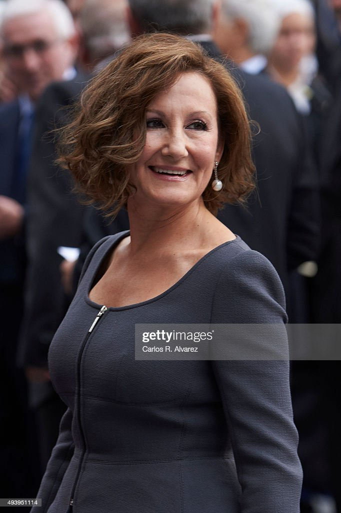 Paloma Rocasolano arrives to the Campoamor Theater for the Princess of Asturias Award 2015 ceremony on October 23, 2015 in Oviedo, Spain.