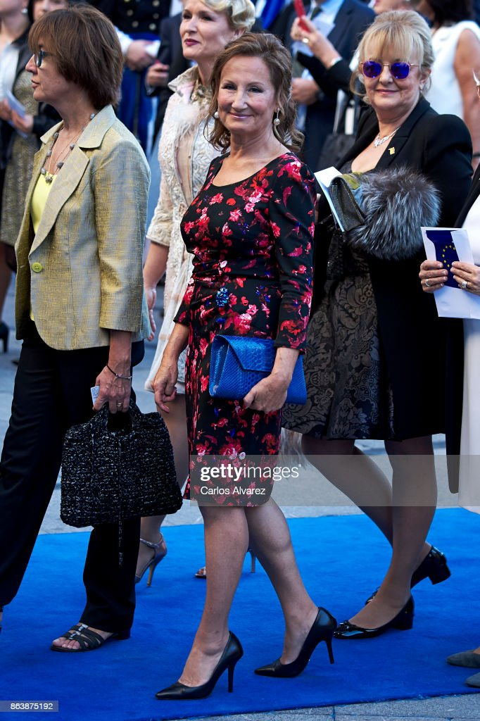 Paloma Rocasolano attends the Princesa de Asturias Awards 2017 ceremony at the Campoamor Theater on October 20, 2017 in Oviedo, Spain.