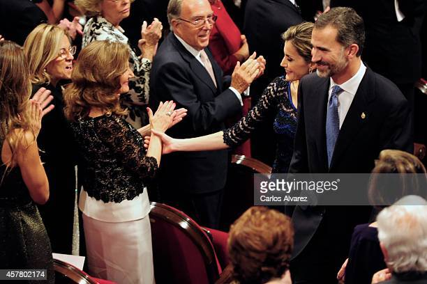 Paloma Rocasolano King Felipe VI of Spain and Queen Letizia of Spain attend the Principe de Asturias Awards 2014 ceremony at the Campoamor Theater on...